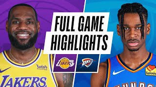 Game Recap: Lakers 128, Thunder 99