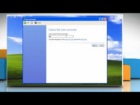 Windows® XP: How To Create A New User Account