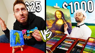 $25 VS $1,000 ART PAINTINGS! *Budget Challenge*