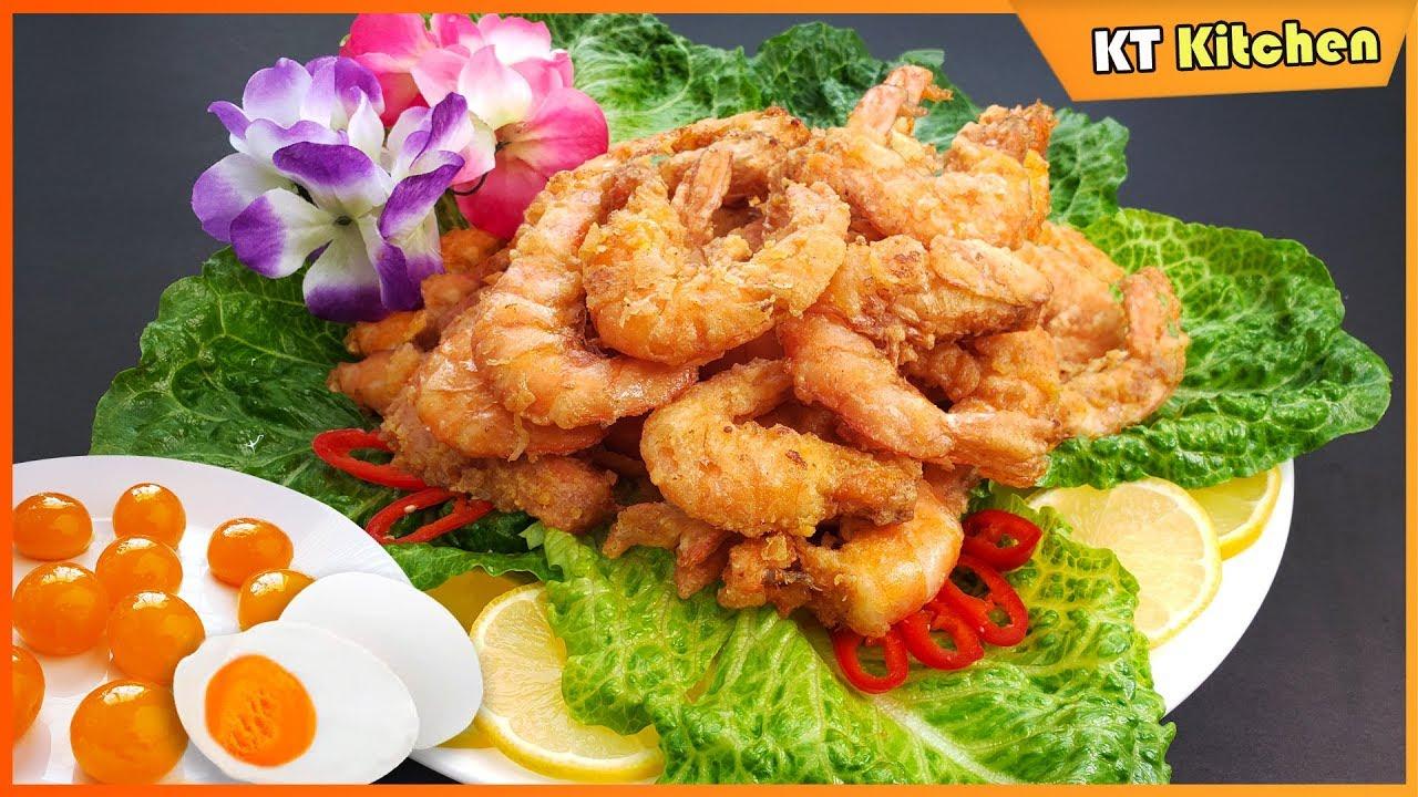 Cách Làm TÔM RANG TRỨNG MUỐI Ngon Ngất Ngây- Tôm Hoàng Kim – Shrimps with Salted Egg Yolks