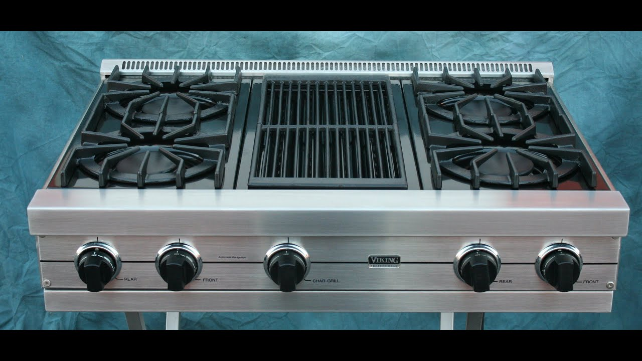 gas stove top viking y85 top