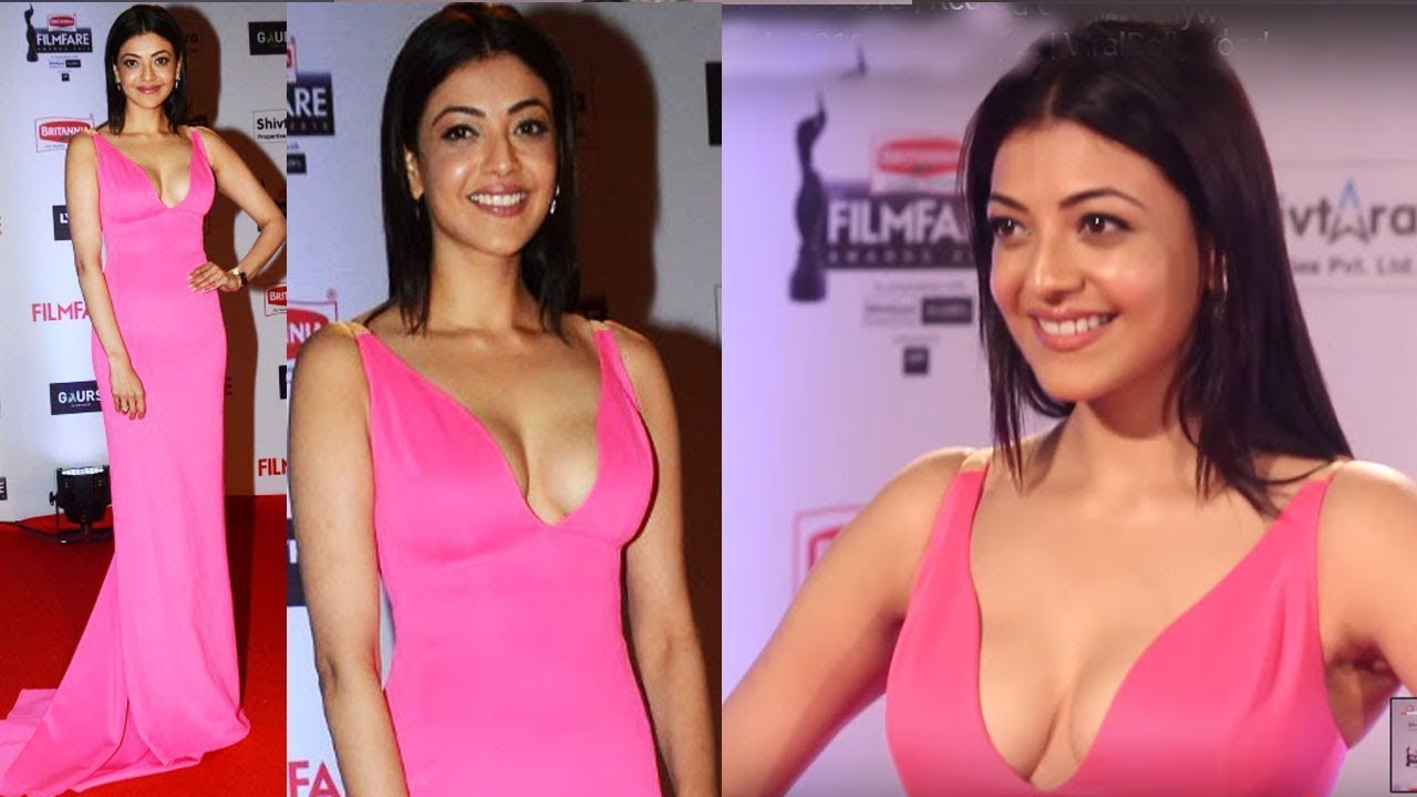 Kajal Aggarwal in Beautiful Pink dress at Filmfare Awards