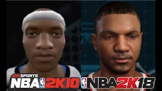 Chris Smoove MyPlayer's Creation From NBA 2K10 To NBA 2K18