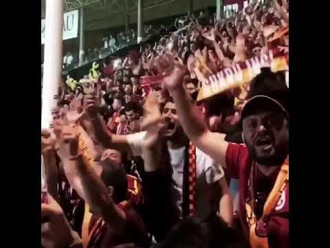 Alanya deplasmanında maçtan sonra Galatasaray tribünü 21.04.2018