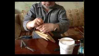 Переплетаем книги - 7 (Binded book - 7)(Переплетение и реставрация книг в домашних условиях Weaving and restoration of books in the home., 2012-03-21T06:09:34.000Z)