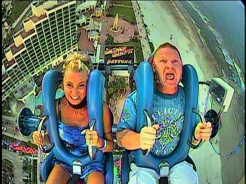 Slingshot ride in Daytona Beach Florida
