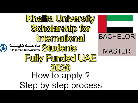 Khalifa University Scholarship for International Students Fu