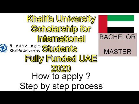 Khalifa University Scholarship for International Students Fully Funded UAE 2020