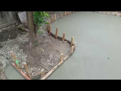 Veterans concrete,...pre release exposed aggregate slab