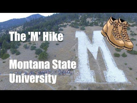 "The ""M"" Hike | DJI Phantom Drone Aerial Photography | Montana State University (MSU)"