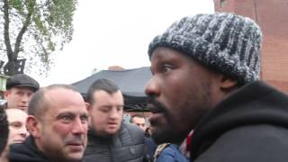 NOT SUCH A BAD GUY! - DERECK CHISORA SHOWS HIM HUMBLE SIDE AS HE MAKES TIME FOR WAITING FANS