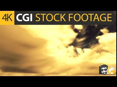 ( CGI 4k Stock Footage ) Dark apocalyptic sky