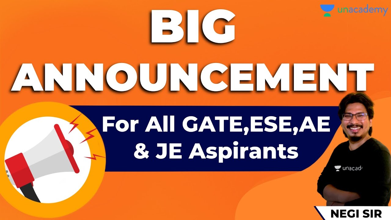 Special Surprise for All GATE, ESE, AE & JE Exam Aspirants | 🔴 Live at 6 pm