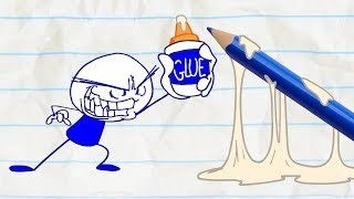 - Pencilmate Gets Caught Cheating in CAUGHT OFF CARDS Pencilmation Cartoons for Kids