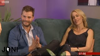 Jamie Dornan & Gillian Anderson - (UK Breakfast TV) 27.09.16