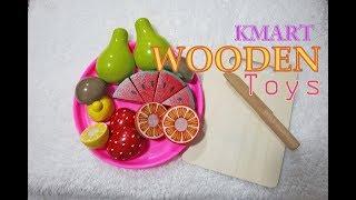 Wooden Fruit Cutting Set Toys Kmart Australia Anko Educational Toy Collection