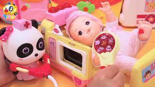 팬더묘묘 의사놀이 응급실 병원놀이|아기가 거미에게 물렸어요|콩순이|장난감놀이|토이버스|ToyBus