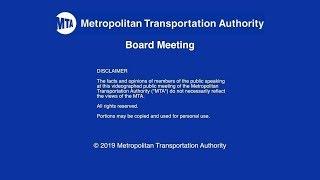 MTA Board - 06/24/2019 Live Webcast