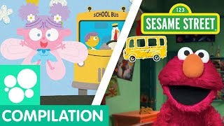 Sesame Street: Wheels on the Bus Songs Compilation | Nursery Rhymes and Remixes