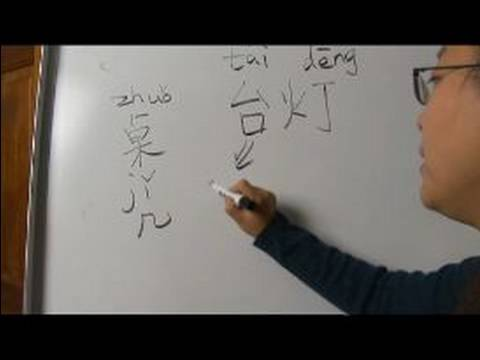 "Learn Chinese Symbols for Home Furnishings : How to Write ""Table Lamp"" in Chinese"