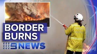Victoria Bushfires: Mega blaze burns along the border | Nine News Australia