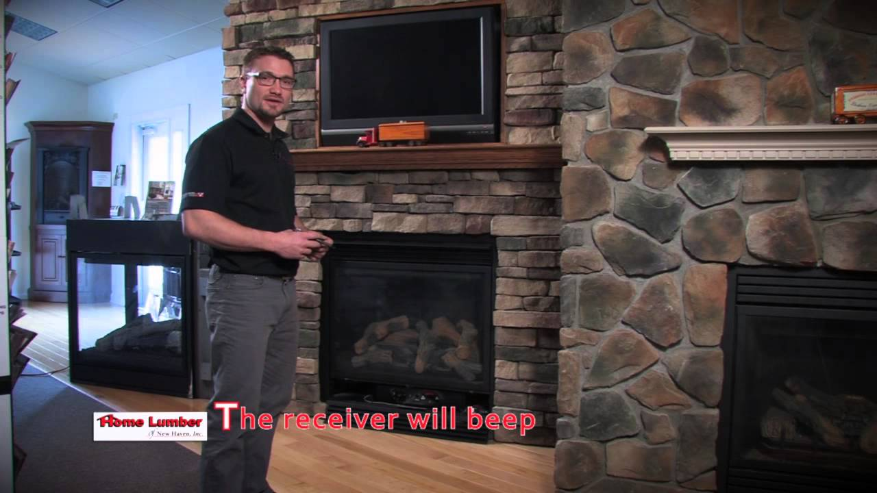 how to program your fireplace remote youtube