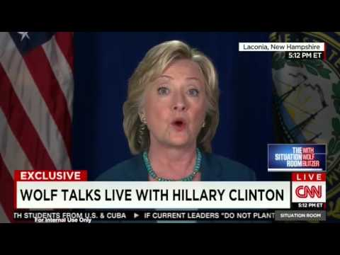 Hillary Clinton Live On Cnn Post Gop Debate The Blaze