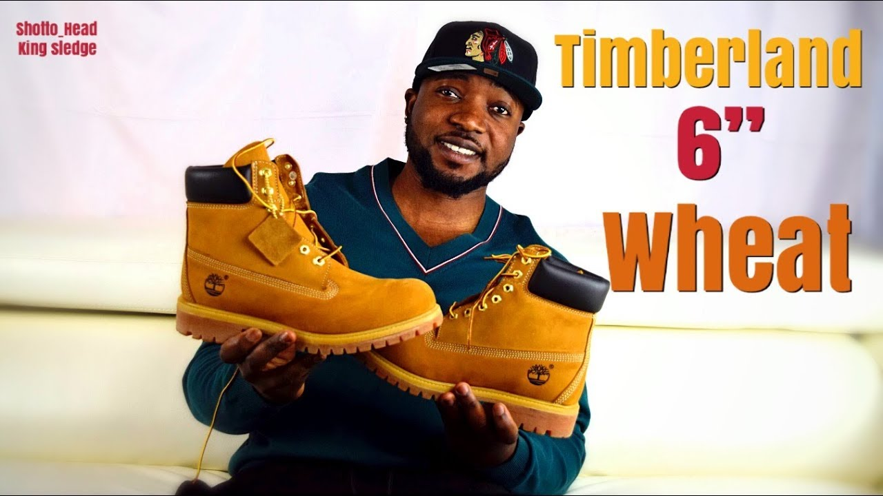 tela Retorcido playa  UnBoxing and On feet; Timberland 6-INCH PREMIUM WATERPROOF BOOTS ( wheat  Nubuck) + ON FEET - YouTube