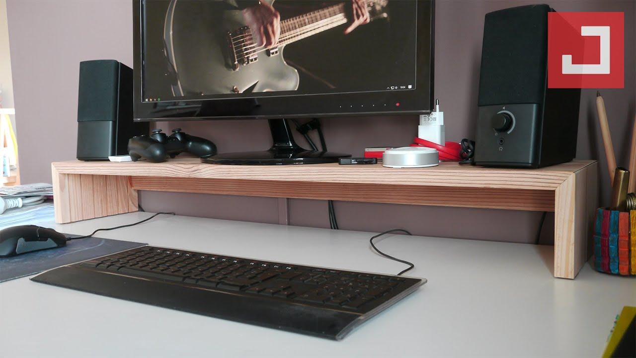 un support d ecran en bois simple et efficace