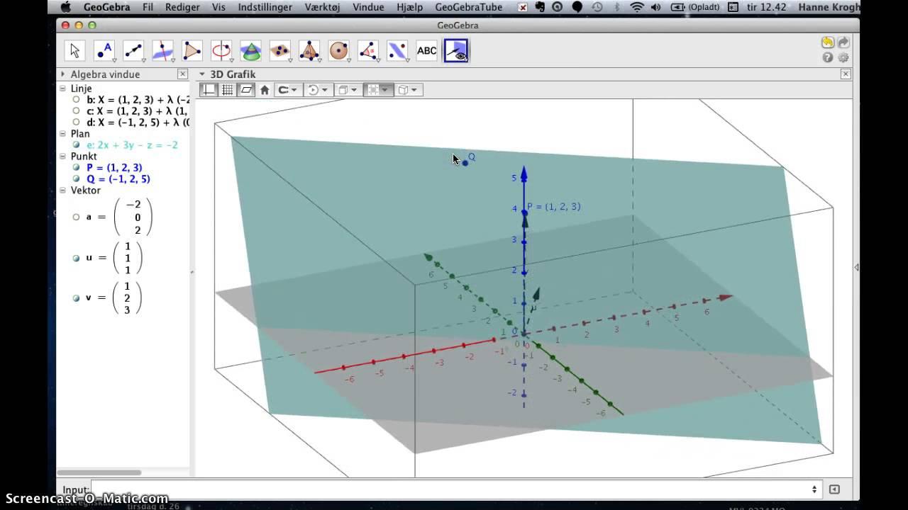 Geogebra 5 3D