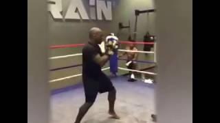 Anthony Joshua pad work with SAS Fitness