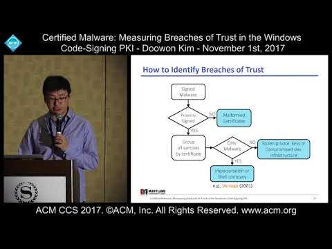 11 1 17 ACM CCS   Doowon Kim   Certified Malware Measuring Breaches of Trust