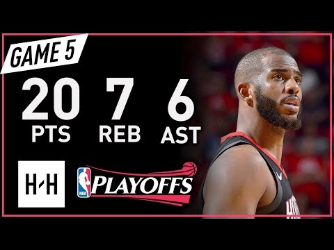 Chris Paul Full Game 5 Highlights Warriors vs Rockets 2018 NBA Playoffs WCF - 20 Pts, 7 Reb, 6 Ast!