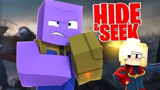How to Play as THANOS in Minecraft Hide and Seek - Minecraft Modded Minigame | JeromeASF