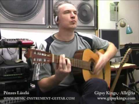 Gipsy Kings - Allegria (cover) - Educating Video For Acoustic Guitar