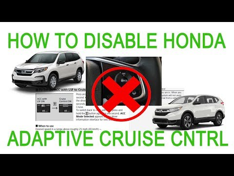 How To Disable Honda Adaptive Cruise Control Pilot Accord CRV Civic