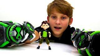 Видео для детей с Бен 10. Часы омнитрикс и крутые трансформации