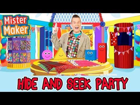 Mister Maker Hide and Seek Arty Party! | Animated Story For Children | Mister Maker