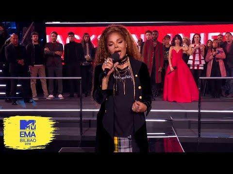 Janet Jackson Acceptance Speech for Global Icon | MTV EMAs 2018