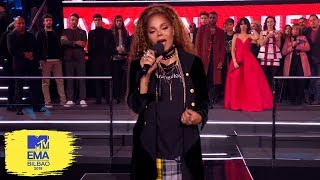 Janet Jackson Acceptance Speech for Global Icon | MTV EMAs 2018