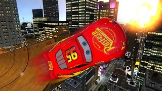 GTA IV Disney Pixar Cars Lightning McQueen ON MEGA RAMP!!!!