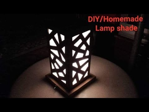 How to make lamp shade using cardboard /Home made /DIY