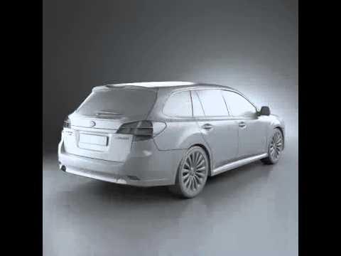 3d Model Of Subaru Legacy Tourer 2010 Review Youtube