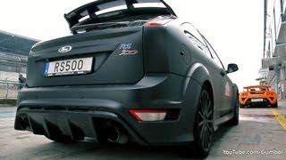 Ford Focus RS500 - In action on the track!