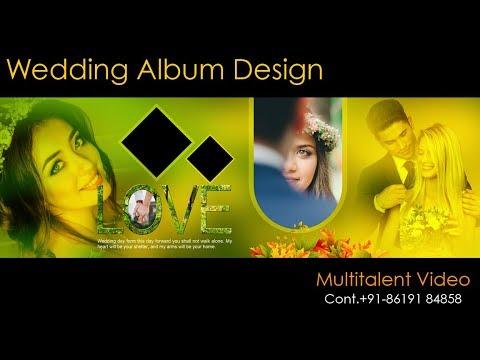 How to make wedding album design in Photoshop Hindi tutorial thumbnail