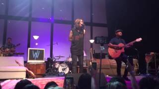 iris cover sleeping with sirens at we like it quiet tour