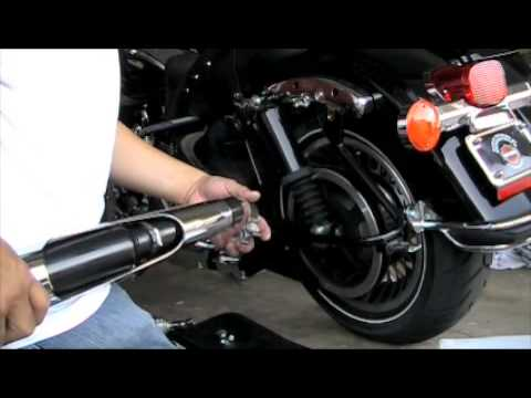 Vances & Hines slip on exhaust Pipes for Harley Davidson Road King