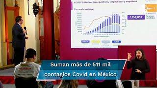 Reporte Covid-19 en México al viernes 14 de agosto: suman 559 mil 974 casos negativos; 85 mil 509 sospechosos; hay 55 mil 908 fallecimiento por coronavirus, además de 511 mil 369 casos positivos acumulados, según informan autoridades de Salud