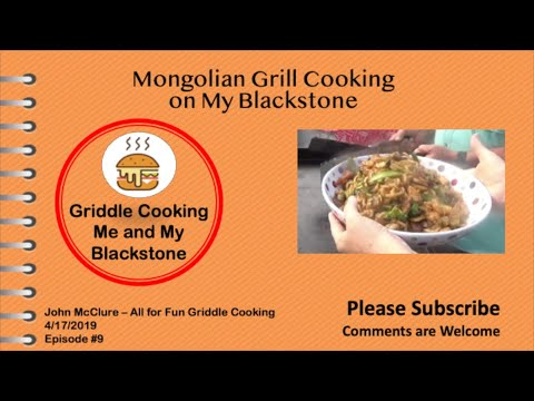 Mongolian Grill Cooking On My Blackstone