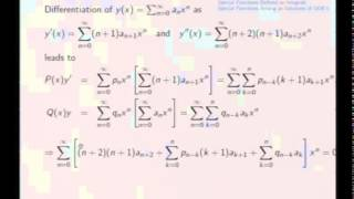 Mod-07 Lec-31 Series Solutions and Special Functions
